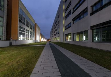Campus der Technischen Universität Chemnitz am Abend