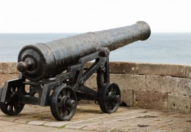 Cannon on battlements