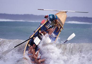 Capsizing boat