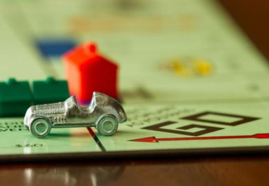 Car on monopoly board