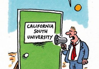 Cartoon on fake university