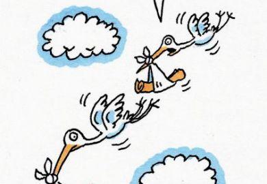 Cartoon stork