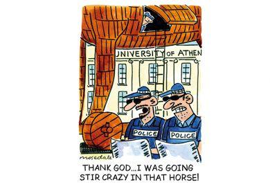 Cartoon Athens Troy