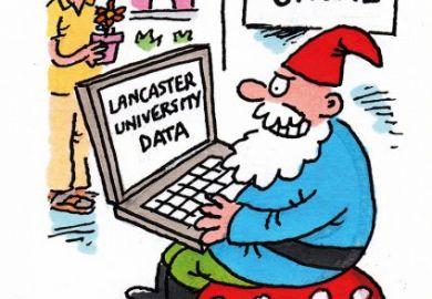 cartoon phishing gnome