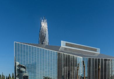 Christ Cathedral, formerly and sometimes still known as the Crystal Cathedral, was designed by Philip Johnson and completed in 1981