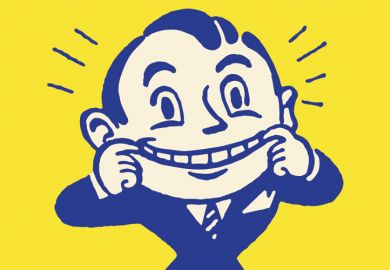 Cheerful smiling man (cartoon)