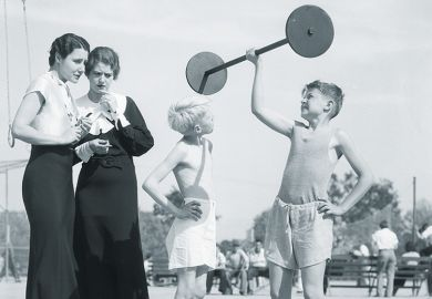 Child lifting weight