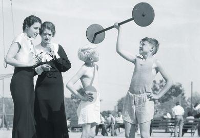 Child lifting weight