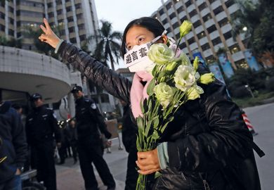 Chinese censorship protester
