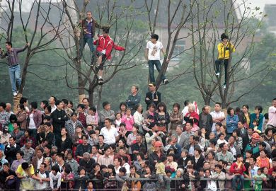 Chinese crowd