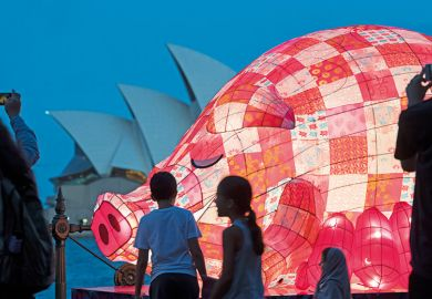Chinese pig lantern at Sydney Opera House
