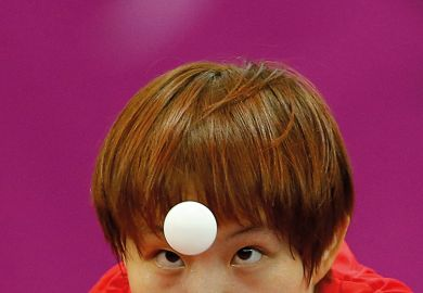 Chinese ping pong player