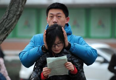 Chinese student and parent