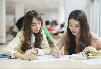 Chinese students at university