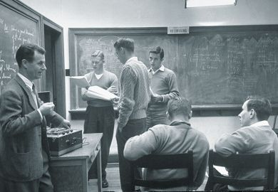 September 1950: The small classes of Kenyon College bring students closer to the professors