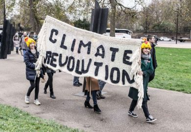 Climate change protest in London