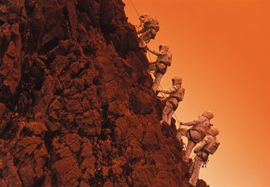 Climbing Martian mountain