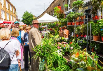 Columbia Road Flower Market in London, symbolising community