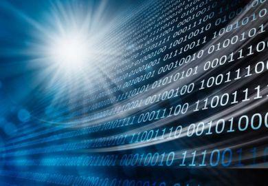 Concept illustration of binary code