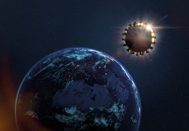 Earth eclipsed by coronavirus