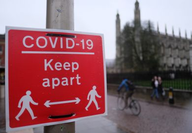Covid sign in Cambridge