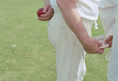 Cricket player and umpire exchanging bribe