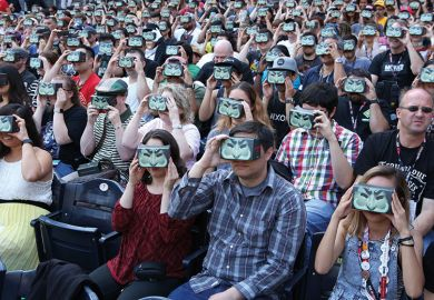 Crowd with VR headsets
