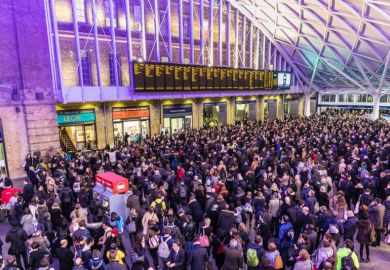 Crowded King's Cross station