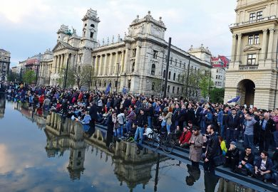 Crowds in Hungary