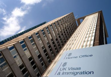Croydon, UK - May 8, 2018 British immigration concept with Lunar House building the Home Office Visas and Immigration Office in Greater London, England, UK