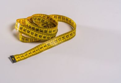 Crumpled tape measure