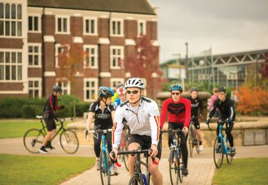 Cycling at Loughborough University