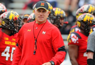 Maryland Terrapins head coach D.J. Durkin