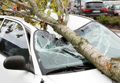 Damaged car