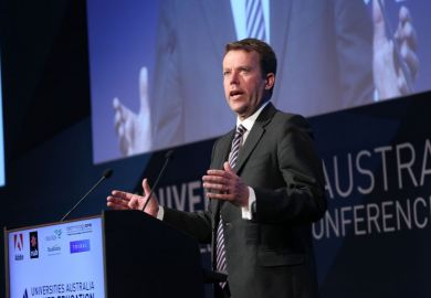 Australian education minister Dan Tehan at Universities Australia conference, Canberra, 28 February 2019