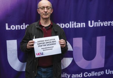David Hardman, branch secretary of London Met's University and College Union