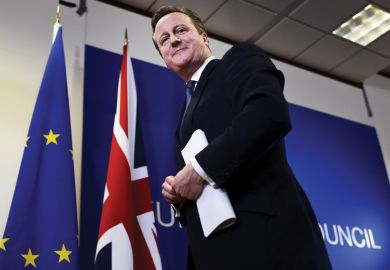 David Cameron leaves a European Union leaders summit