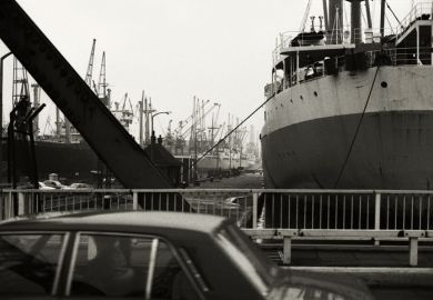 Docks in historical London