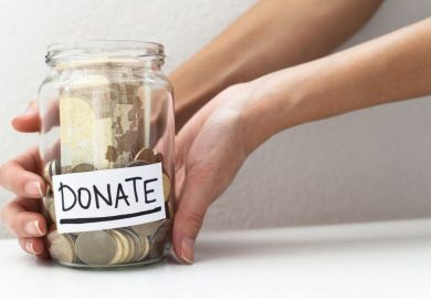 Donation money jar