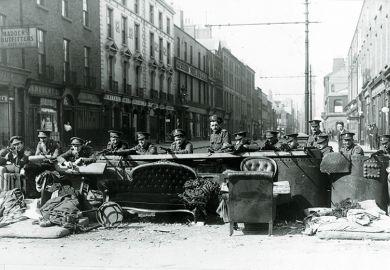 Dublin barricade