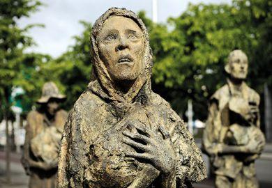 Dublin Famine memorial by Rowan Gillespie