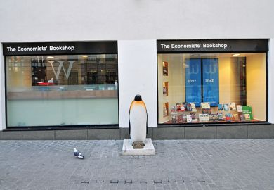 Frontage of LSE's The Economists' Bookshop, which has closed permanently