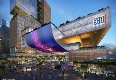 Artist's impression of the proposed ECU city campus