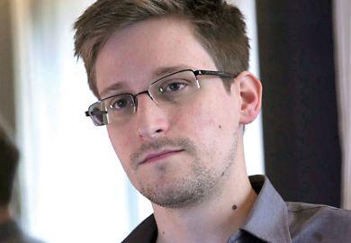 Edward Snowden being interviewed Hong Kong