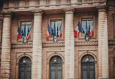 Entrance to the Palais de Justice in Paris