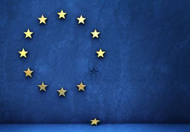 European Union (EU) flag missing star (Brexit)