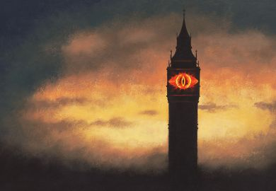 Illustration: Eye of Sauron in Westminster