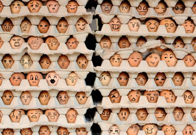 Faces on eggs