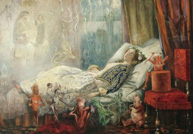 The dream after the masked ball, by John Anster Fitzgerald