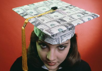 Mortarboard made of money